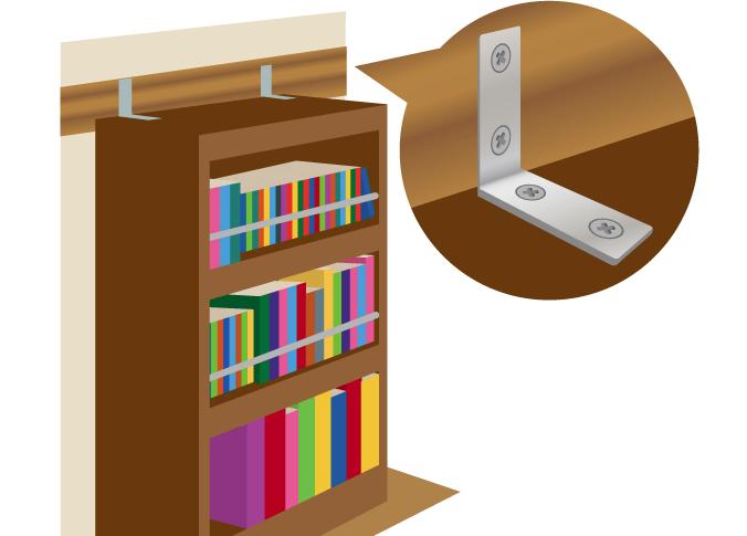 金具で固定された棚【耐震】比較|耐震・制震・免震