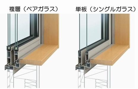 断熱性を高めるペアガラス(複層ガラス)