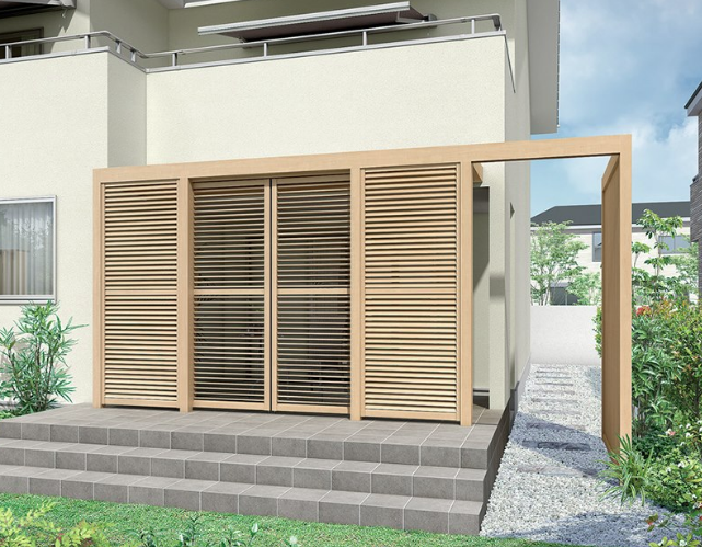 【外フェンスを格子状やルーバータイプにする】部屋を明るくする方法