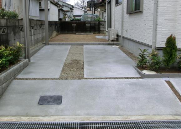駐車場のコンクリート 外構費