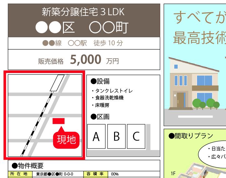 【地図・マップ】戸建チラシの見方・注意点