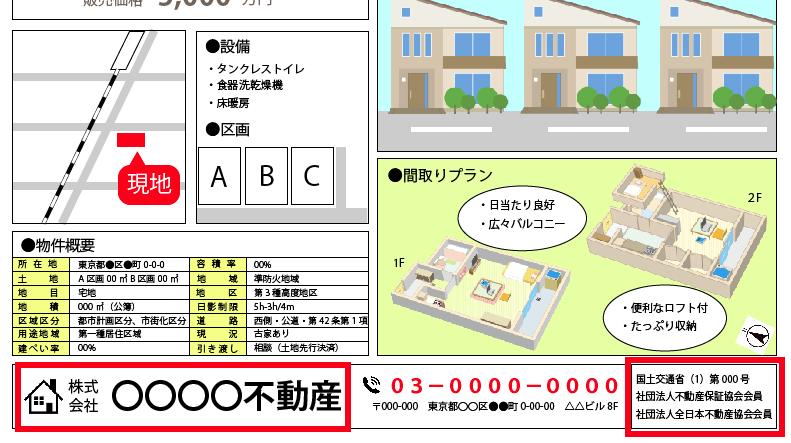 【宅地建物取引業者の免許】戸建チラシの見方・注意点