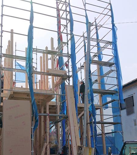 【建て方(棟上げ)】新築工事・工程