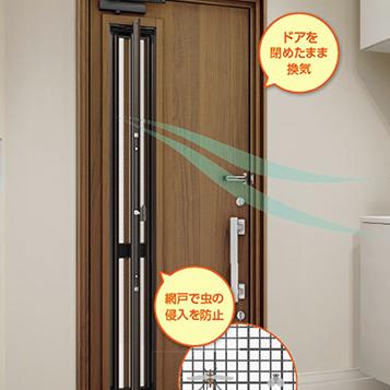 通風玄関ドア 玄関ドアの最新機能