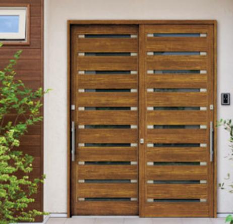 引き違い戸 玄関ドアの形