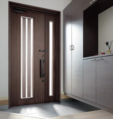 採光できる玄関ドア