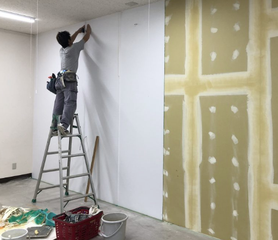 【石膏ボード貼り付け】新築工事・工程