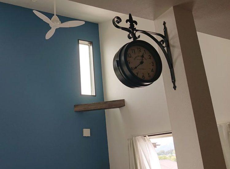 壁がけ時計 アイアン インテリア コーディネート