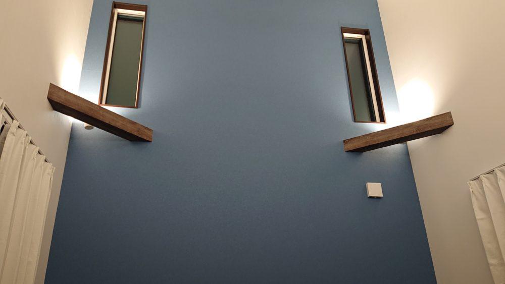 勾配天井を魅せる照明テクニック