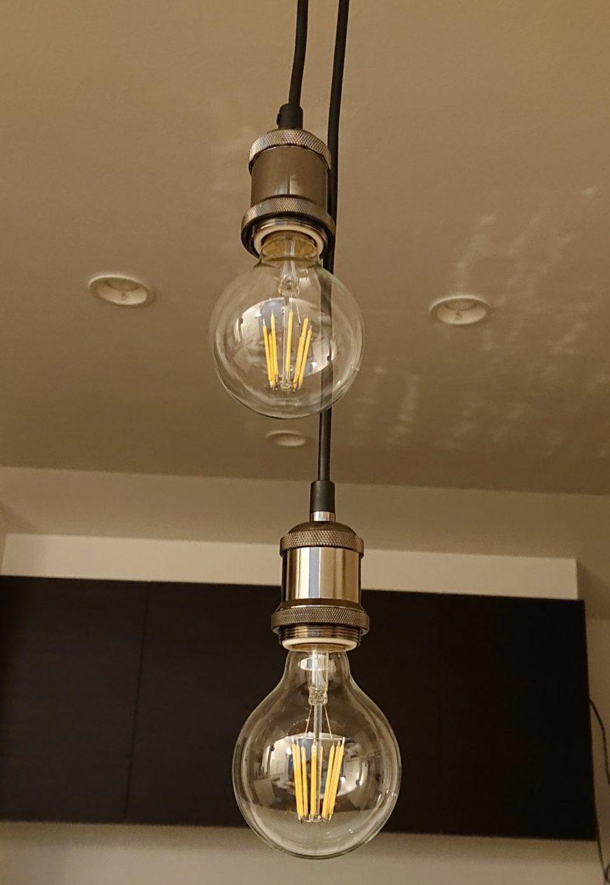 ダイニング 照明 ペンダントライト 真鍮ソケット