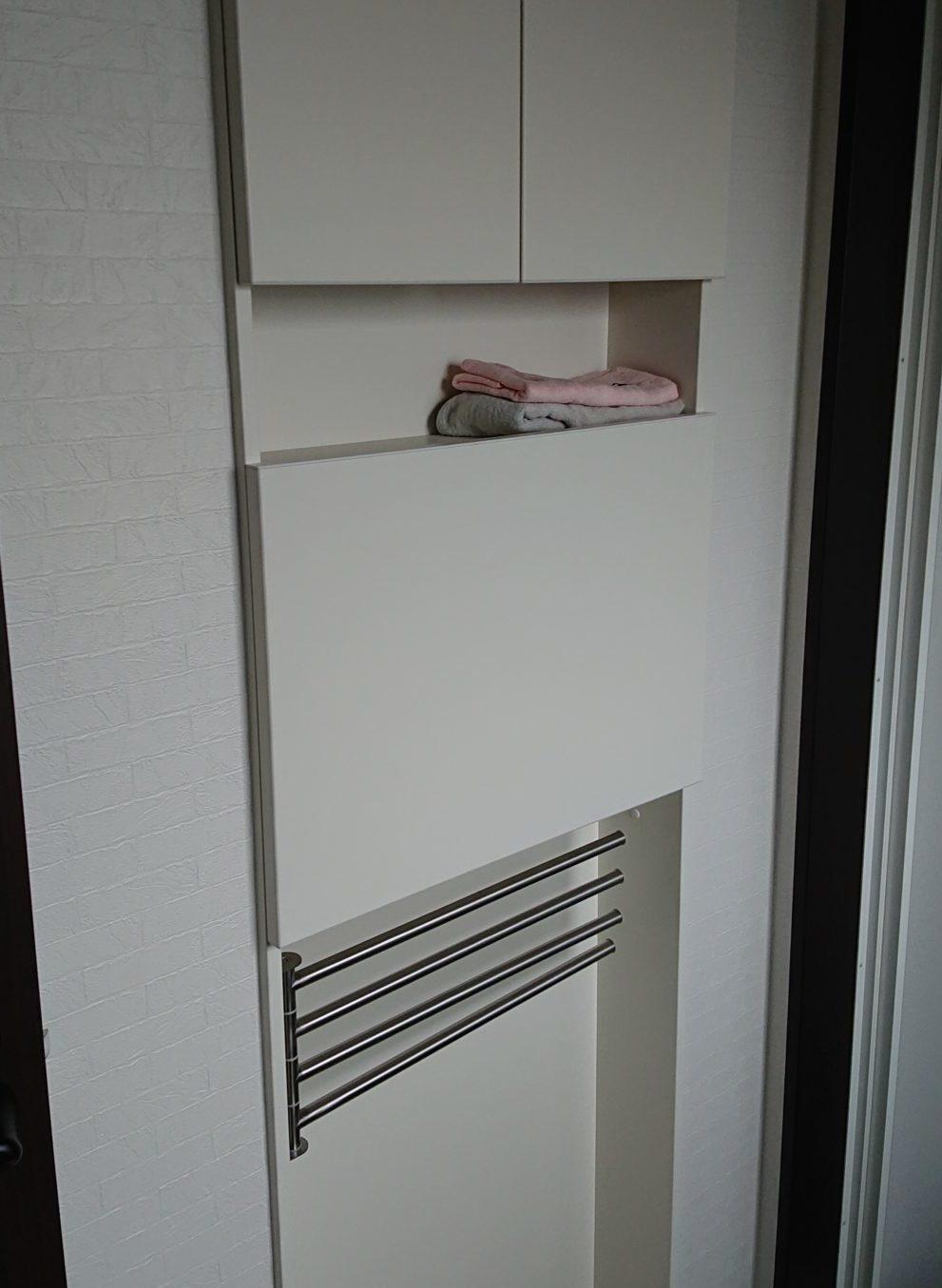洗面所・脱衣室の壁埋め込み収納