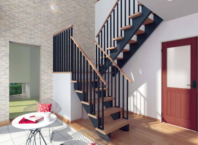 【階段の種類】ハウスメーカーの注文住宅