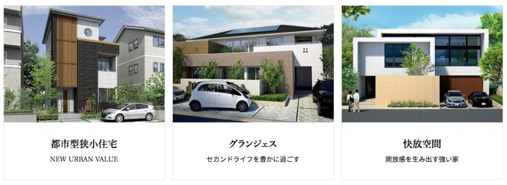 日本ハウスHDの商品ラインアップ