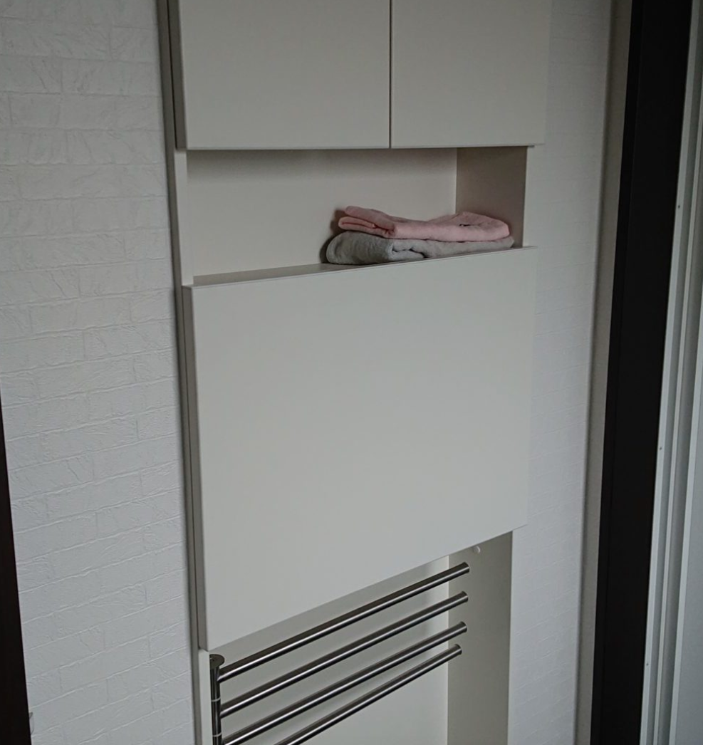 壁埋め込み収納 脱衣所 収納アイデア